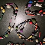 """""""Unequal"""" necklaces / recycled paper"""